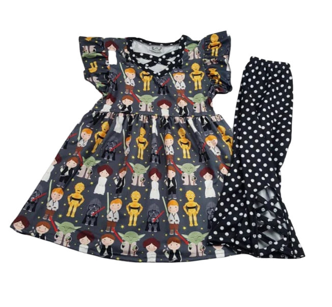 Star Wars Girls Outfit Boutique Clothes with Yoda, Leia, Hans Solo and more
