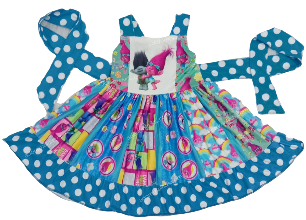 trolls girls dress clothes princess poppypanel boutique twirl dress