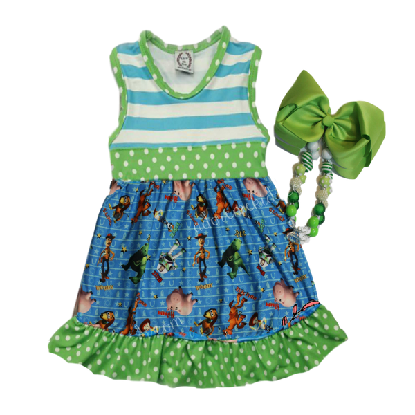 Toy Story Disney Girls Boutique Dress Clothing with Woody, Jessie, Buzz Lightyear and more!