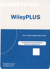 WileyPlus Access Code - Stand Alone Access Online - JoshyExpress