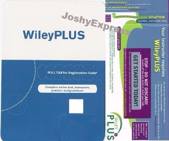 WileyPlus Access Code - Stand Alone Access Online – JoshyExpress