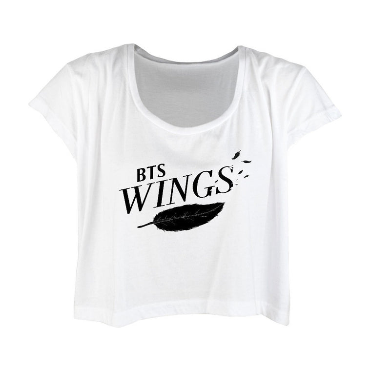 BTS The WINGS 2017 Tour Shirt- Crop Tee