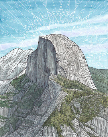 Prints: Half Dome, Yosemite National Park