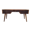 Modern Reclaimed Teak Writing Desk