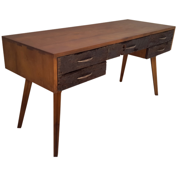 Reclaimed teak writing desk