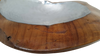 Teak and Aluminum Bowl