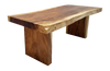 Live Edge Suar Table on wooden legs