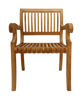Teak Curve Patio Chair set of 2