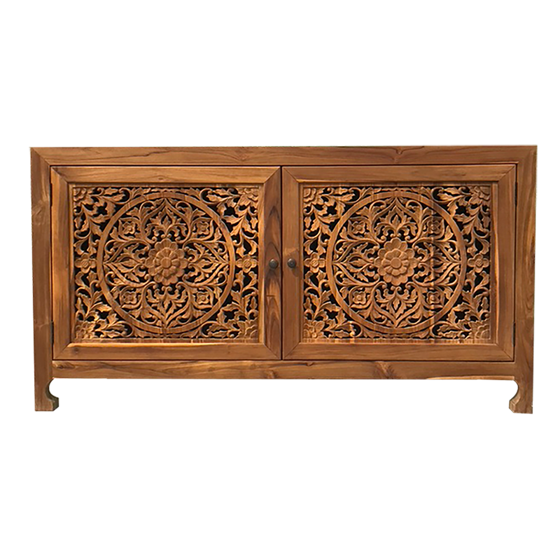 Carved Buffet in Natural Wood