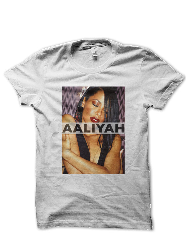 AALIYAH PHOTO TRIBUTE TEE (WHITE)