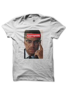 MALCOLM X APPROPRIATE TEE (WHITE) - REP CULTURE