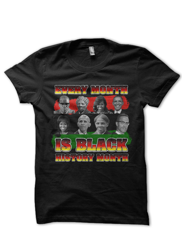 EVERY MONTH IS BLACK HISTORY MONTH (BLACK) - REP CULTURE