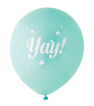 Yay Balloon: Aqua/White