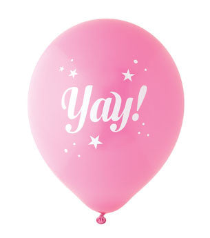 Yay Balloon: Hot Pink/White