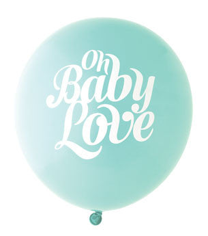 Baby Love Balloon: Aqua/White