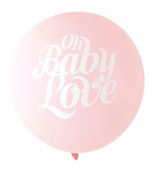 Baby Love Balloon: Blush/White