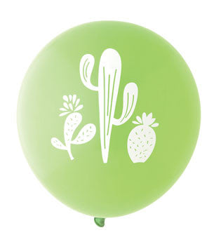 Cactus Balloon: Lime/White