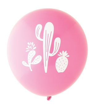 Cactus Balloon: Hot Pink/White