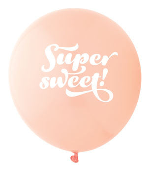 Super Sweet Balloon: Coral/White