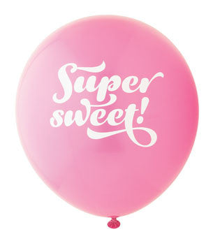 Super Sweet Balloon: Hot Pink/White