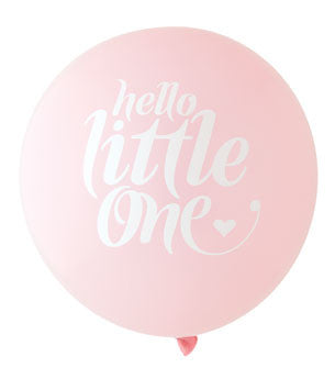 Hello Little One Balloon: Blush/White