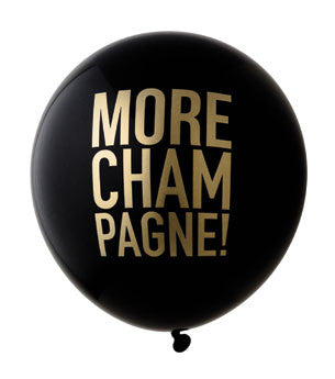 More Champagne Balloon: Black/Gold