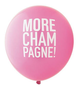 More Champagne Balloon: Hot Pink/Gold