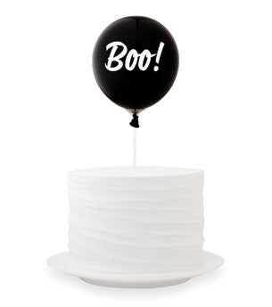 Boo Balloon Cake Topper Kit: Black/White
