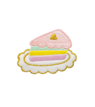 Pastel Cake Slice Sticker Patch