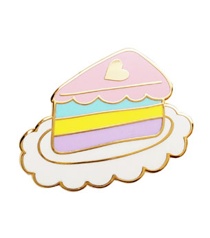 Pastel Slice Lapel Pin