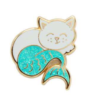 Glitter Cat Fish Lapel Pin