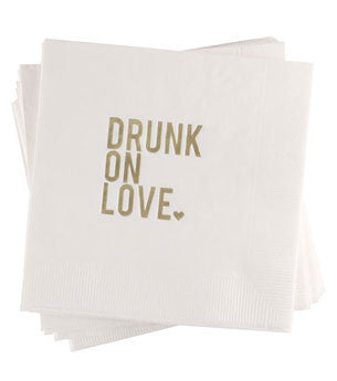 Drunk On Love Napkins: 25ct