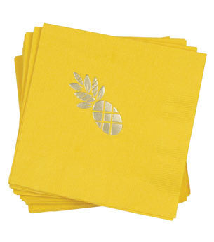 Pineapple Napkins: Sunshine/Gold 25 ct