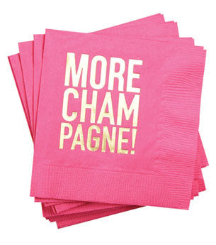 More Champagne Napkins: Hot Pink/Gold 25 ct