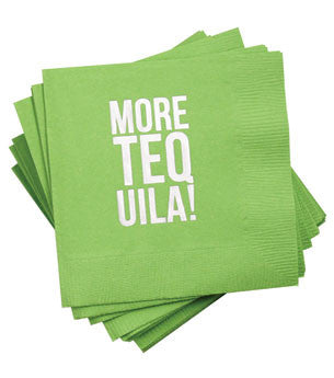 More Tequila Napkins: Lime/Silver 25 ct
