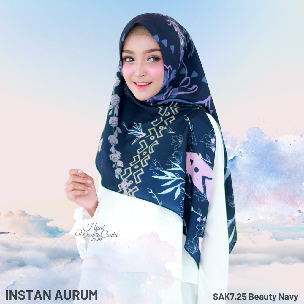Hijab Tutorial Instan Aurum Original by Hijab Wanita Cantik