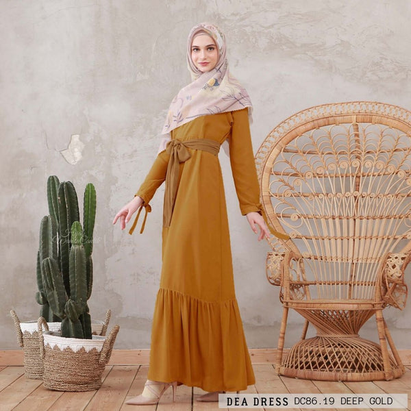 Dea Dress - DC86.19 Deep Gold