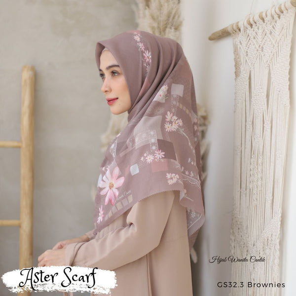 Aster Scarf - GS32.3 Brownies