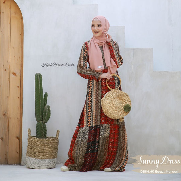Sunny Dress - DB84.60 Egypt Maroon