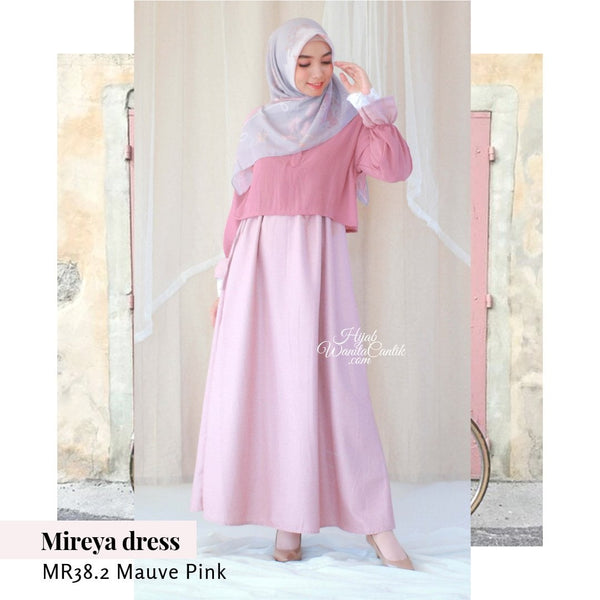 Mireya Dress - MR38.2 Mauve Pink