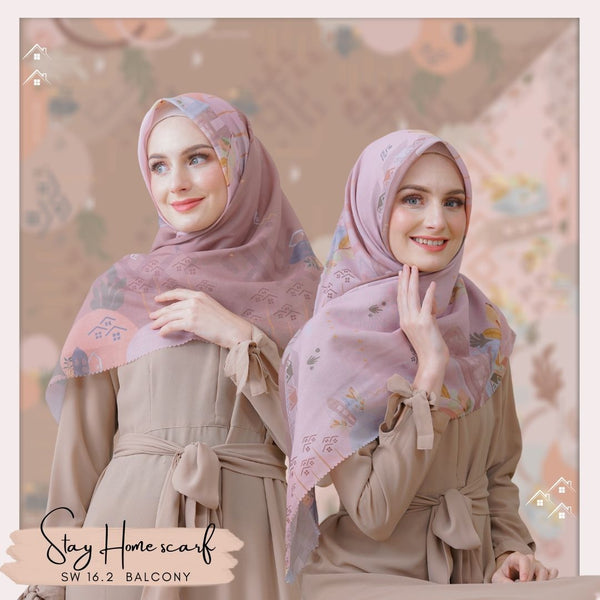 Segiempat Stay Home Scarf - SW16.2 Balcony