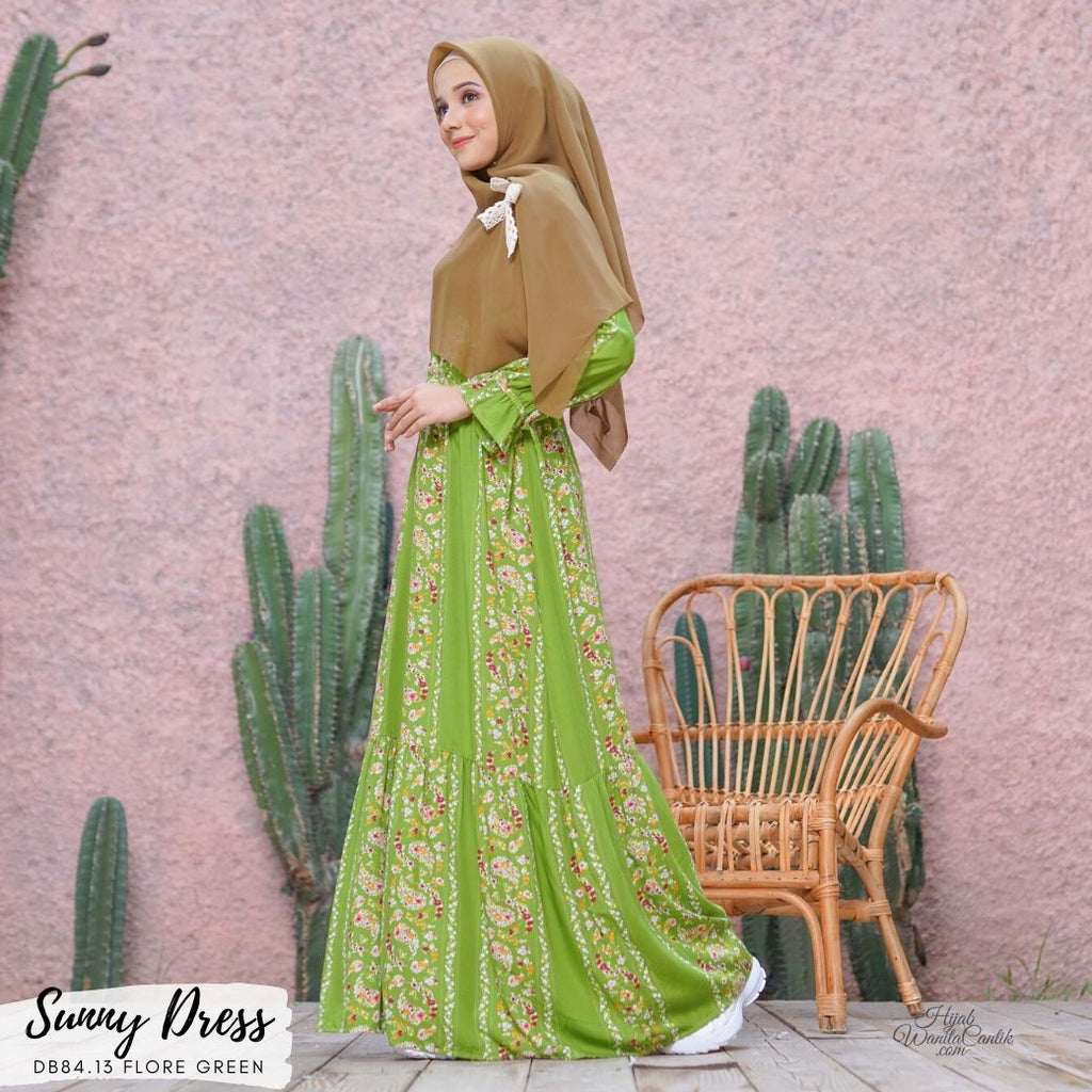 Sunny Dress - DB84.13 Flore Green