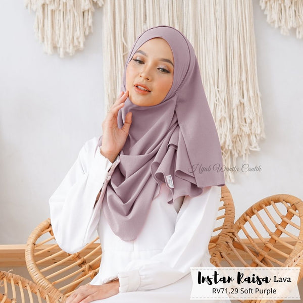 Pashmina Instan Raisa Lava - RV71.29 Soft Purple