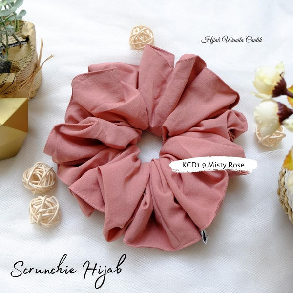 Scrunchie Hijab Diamond Ikat Rambut Anti Pusing KCD1.9 Misty Rose