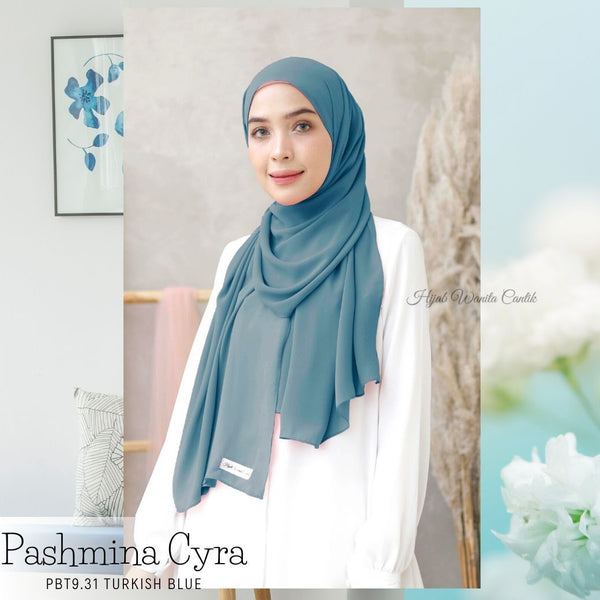 Pashmina Cyra - PBT9.31 Turkish Blue