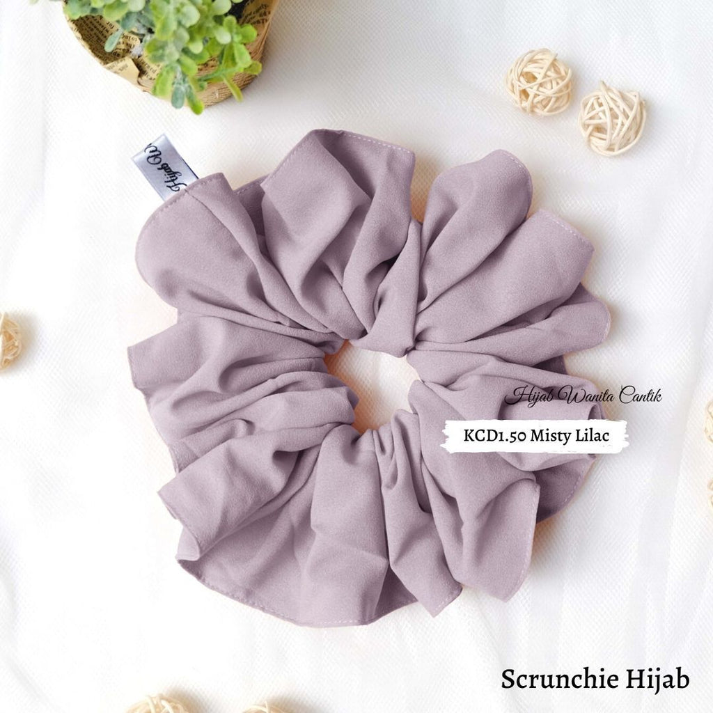 Scrunchie Hijab Diamond  Ikat Rambut Anti Pusing KCD1.50 Misty Lilac