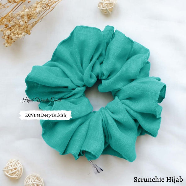 Scrunchie Hijab Voal Ikat Rambut Anti Pusing KCV1.75 Deep Turkish