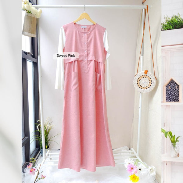Malka Dress  - BL29.8 Sweet Pink