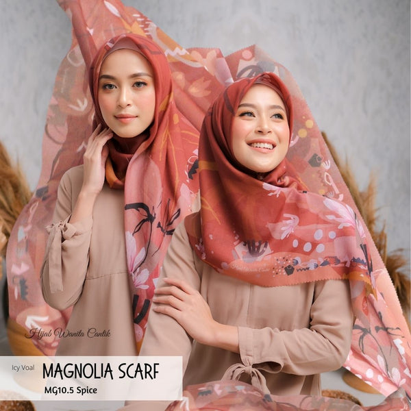 Magnolia Scarf ICY Voal - MG10.5 Spice