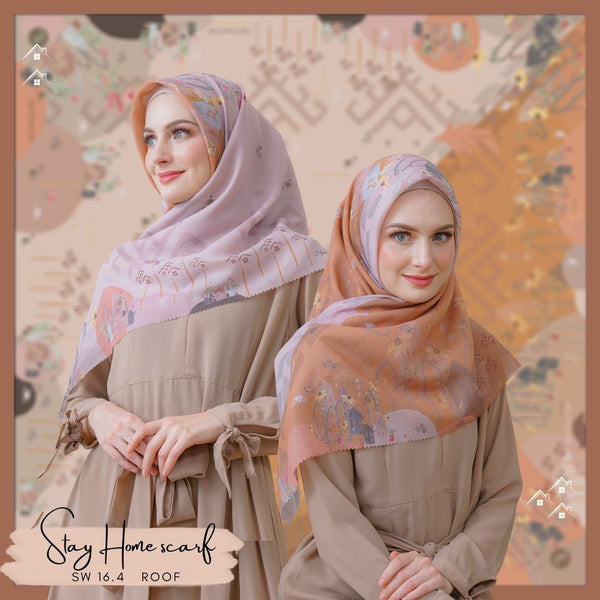 Segiempat Stay Home Scarf - SW16.4 Roof